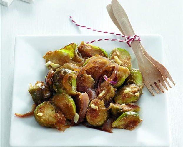 Λαχανάκια Βρυξελλών με κύμινο